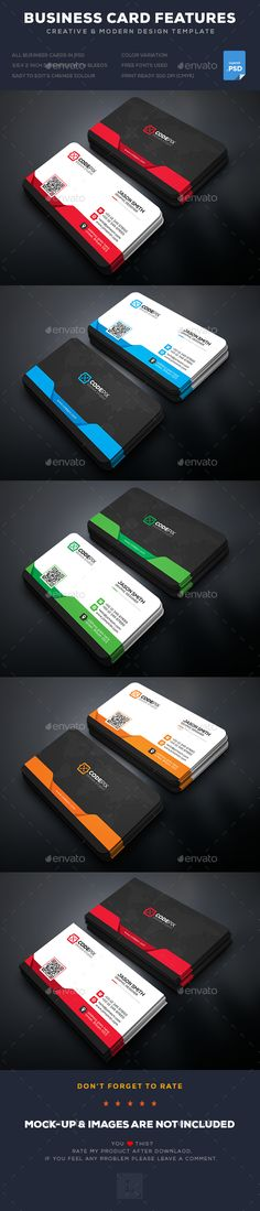 Colorful Abstract Business Card  Corporate Identity