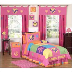 What a groovy idea for a girls bedroom!