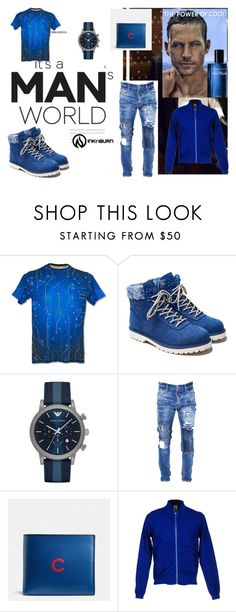 """""""#INKnBURN&contest"""" by fatimka-becirovic ❤ liked on Polyvore featuring Ransom, Emporio Armani, Dsquared2, Coach, SOHO, men's fashion, menswear and INKnBURN"""