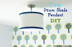Drum Light DIY - Chaotically Creative