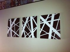 Home art painting canvases simple Ideas Diy Canvas Art, Abstract Canvas Art, Diy Wall Art, Painting Abstract, Abstract Lines, Canvas Ideas, Wall Decor, Diy Wand, Tape Painting