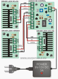 hazlo tu mismo Diy Electronics, Electronics Projects, Electronic Workbench, Led Dimmer, Led Diy, Circuit Diagram, Arduino Projects, Power Led, Gadgets And Gizmos