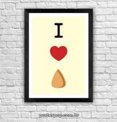 Poster I Love Coxinha