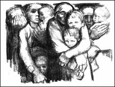 Widows and orphans, Kathe Kollwitz. Her drawings aren't always easy to look at and often evoke things that I don't want to feel. But, really....what do you want from art? To simply see pretty things? Or to feel? Her work is expression of humanity itself. Physicality tied up with the permanence of our souls.