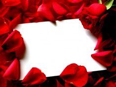 Red Roses Border Frame PPT Backgrounds