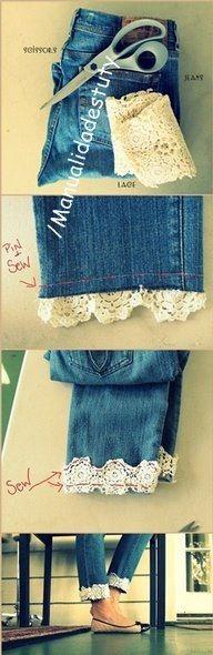 jean's mode dentelle