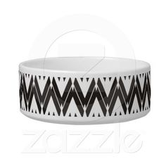 Shop Black and White Unique Zig Zag Pattern Bowl created by stdjura. Zig Zag Pattern, Pet Bowls, Pet Gifts, Ceramic Bowls, Keep It Cleaner, Your Pet, Ceramics, Black And White, Pets