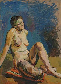 Seated Nude, Duncan Grant (1885–1978), Rye Art Gallery