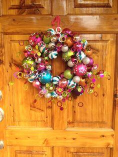 Fantastically fun wreath!
