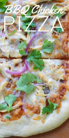 Inspired by my favorite pizza at California Pizza Kitchen, this recipe for BBQ Chicken Pizza can be made in your own kitchen at home. It's a a fun twist on traditional pizza, and a great Cooked Chicken Recipes, Leftover Chicken Recipes, How To Cook Chicken, Beef Recipes, Pizza Recipes, Bbq Chicken Flatbread, Chicken Pizza, Rotisserie Chicken, Pizza Pizza