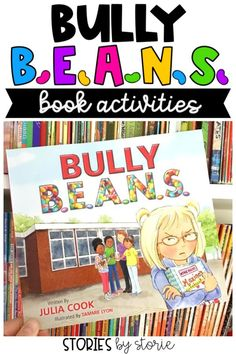 Bullying is happening in schools more often than we�d like to admit. Bully B.E.A.N.S. by Julia Cook helps children identify bullying and offers strategies for those who are targets and bystanders. Here are a few activities you can pair with this story. Reading Activities, Teaching Reading, Teaching Kids, Reading Centers, Literacy Activities, Reading Skills, Social Emotional Learning, Social Skills, Social Work