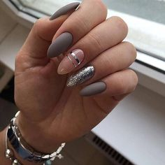 41 Trendy ideas for manicure pedicure designs classy Aycrlic Nails, Matte Nails, Fun Nails, Hair And Nails, City Nails, Toenails, Pedicure Designs, Gel Nail Designs, Uñas Fashion