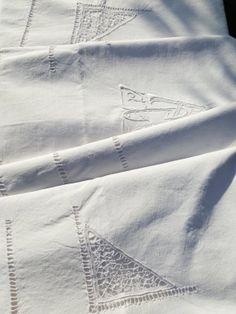 Linen Metis Sheet French Vintage Raised Hand by GoshnPoche on Etsy, $130.00