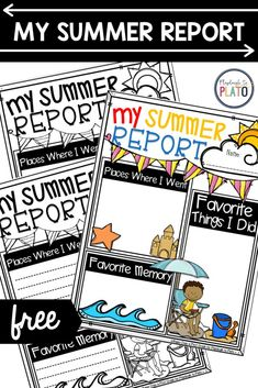 These fun and differentiated summer reports, students will be able to relive their best summer memories and share them with their classmates. This fun and engaging writing activity will be a back to school favorite for sure! #backtoschool #summerwriting Back To School Activities, Writing Activities, Summer Activities, Teaching Resources, Report Writing, First Grade Teachers, Summer Memories, First Day Of School, Kindergarten