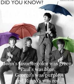 Beatles umbrellas