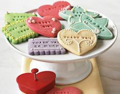 Love the stamp message on the cookies!