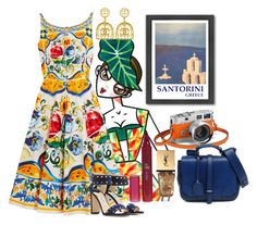 """""""greece dream #1659"""" by natalia ❤ liked on Polyvore featuring Vintage, Yves Saint Laurent, Dolce&Gabbana, FLORIAN, Jimmy Choo and Americanflat"""
