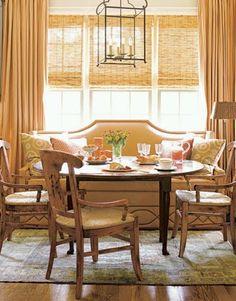 banquette breakfast area