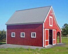 Diy Shed Plans, Barn Plans, Garage Plans, Garage Ideas, Building A Pole Barn, Building Plans, Pole Barn Construction, Pole Barn Designs, Small Barns