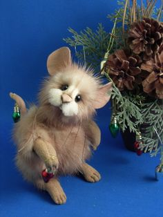 Oh My Goodness this little guy is so cute! Vintage Mink Bears by Kathy Myers