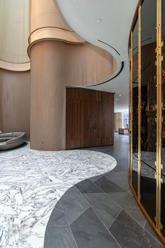The Skinny On Choosing The Best Hotels – Hotels Lobby Interior, Interior Architecture, Modern Interior, Terrazzo, Floor Design, House Design, Design Design, Mensa, Hotel Corridor