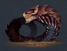 Worm Beast by ThranTantra.deviantart.com on @DeviantArt