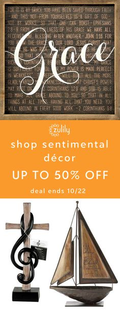 Sign up to shop sentimental décor up to 50% off. When you have something to say, say it with Dicksons. Whether it's sentimental, funny or religious, they have home décor that spells it out. Deal ends 10/22.