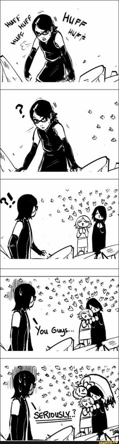 SasuSaku and Naruto aweing at Sarada.