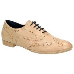 Details zu Marc O Polo (Sacchetto) Damen Schuhe Budapester Stil  Schnür-Halbschuhe, Beige 9892c9c934