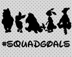 Squadgoals SVG, Disney Squadgoals svg, Winnie the Pooh Svg, disney cricut and si. Disney Diy, Disney Crafts, Disney Magic, Disneyland Outfits, Disneyland Trip, Disney Trips, Winnie The Pooh Shirt, Winne The Pooh, Cricut Baby Shower