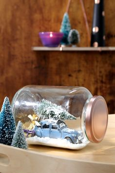 Driving home for Christmas! Weihnachtliche Heimfahrt im Einweckglas, Weihnachten, DIY