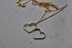 MY HEART 14k solid gold heart pendant / 14k gold by shauljewelry