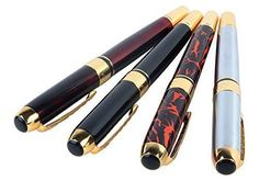 JINHAO 250 Fountain Pen 4 Pieces in 4 Colors * You can find more details by visiting the image link. (This is an affiliate link) #FountainPen