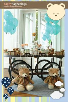 fiesta fiesta, teddi bear, bear parti, bear party, teddy bears, shower idea, parti idea, babi shower, baby showers