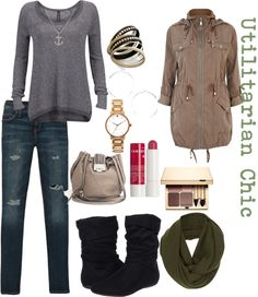 """""""Utilitarian Chic"""" by tiffany-camille-hester on Polyvore"""