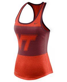 Nike Women's Virginia Tech Hokies Dri-Blend Mesh Tank Top