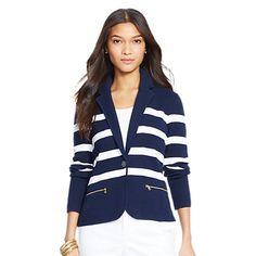 Buy Lauren Ralph Lauren Adewina Striped Knitted Blazer Online at johnlewis.com