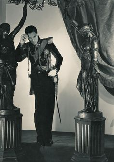 De Gunzburg, photographed by Horst, dressed as Archduke Rudolf for his Ball of the Waltzes, 1934.