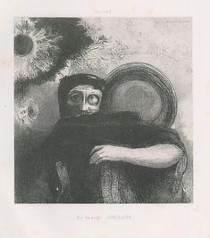 Odilon Redon - A Strange Jugler. Homage to Goya, Lithography 5 from 6, 1885