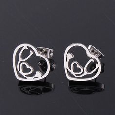 Medical Stethoscope Heart Earrings