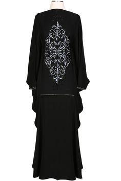 Khaleegy Khaleegi khaleej Khaliji Thobes Saudi Black ABAYA KAFTAN DRESS FreeSize