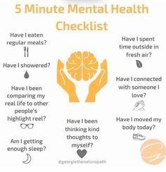 5 Minute Mental Health Check list
