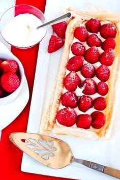 strawberry and mascarpone tart