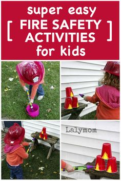 3 Easy Activities for Fire Safety for Kids - Perfect for fire Safety Awareness or home safety plans. Works in the classroom or at home. Toddler Learning Activities, Summer Activities For Kids, Motor Activities, Family Activities, Fun Learning, Preschool Activities, Babysitting Activities, Fire Safety For Kids, Child Safety