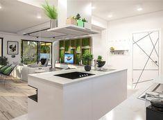 Zdjęcie projektu Padme 2 WOE1113 Bungalow, Building A House, Villa, Kitchen, Furniture, Home Decor, Poland, Summer, Houses