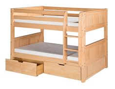 Camaflexi Low Bunk Bed with Drawers and Panel Headboard & Reviews | Wayfair