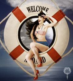Who loves nautical Pin Up?  - Salute Our Veterans by Supporting the Businesses of www.VeteransDirectory.com and Hiring Veterans. Post Jobs at www.HireAVeteran.com