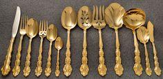 Oneida Community GOLD BEETHOVEN Golden Silverware Flatware Pieces YOUR CHOICE!   eBay