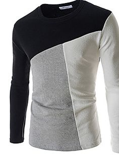 T-paidat - Puuvilla , Bodycon MIEHET