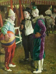 The Three Clowns by Laura Knight